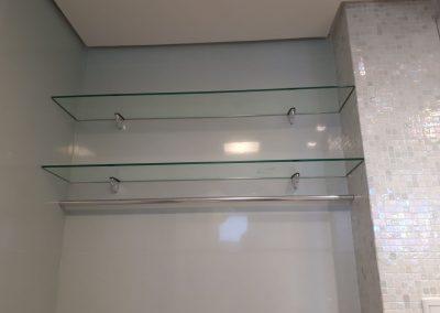 Prateleira vidro temperado incolor