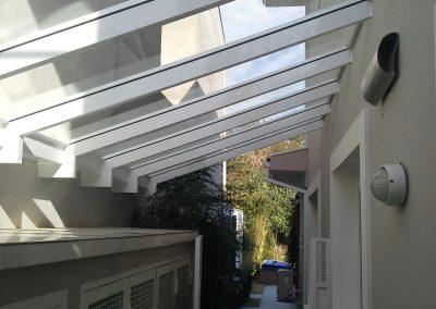 Telhado vidro incolor alumínio branco